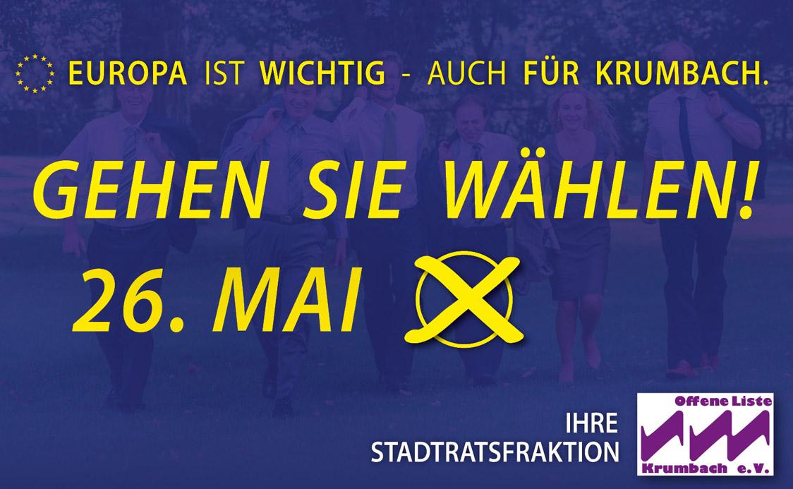 24. Mai ist Europawahl: gehen Sie wählen!