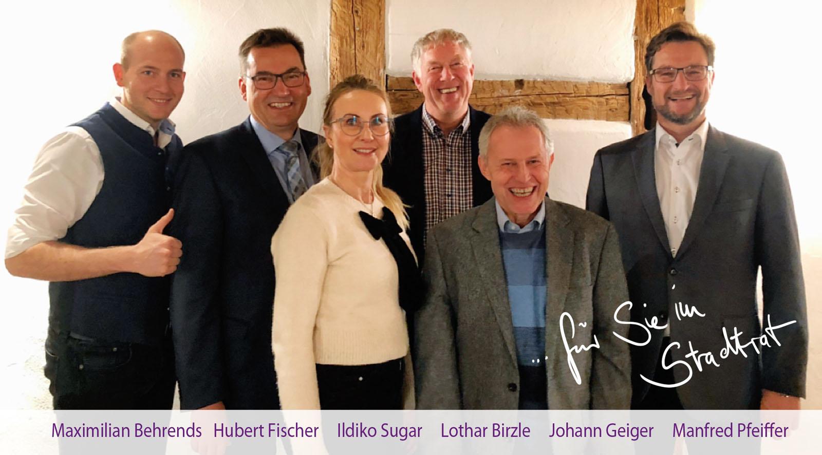 5 Stadträte und 1 Bürgermeister:miteinander, füreinander. Wir packen für uns alle an.